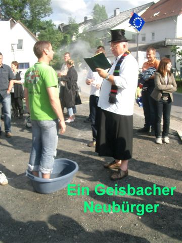 Taufe eines Neubürgers