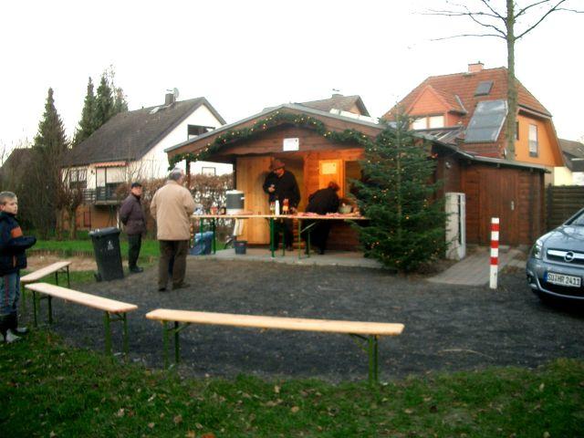 Vorbereitung unserer Hütte